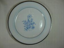 Zylstra Select Fine China Silver Ecstasy Dinner Plate Blue Floral Platinum Trim