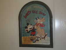Extremely Rare! Walt Disney Mickey Mouse Washing Pluto Old Wooden 3D Wall Board