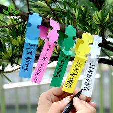 100pcs PVC Waterproof Ring Set Plant Label Gardening Label Plastic Orchid Label
