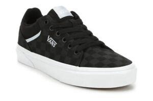 Vans Seldan Black/ Blue Checkerboard Skate Shoes Women Size 8.5