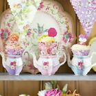Alice in Wonderland Floral Cupcake Stands | Tea Party Vintage Decorations x6