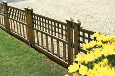 Greenhurst Pack of Four Plastic Fence Panels in Bronze Garden Fencing Outdoors
