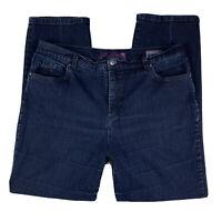 GLORIA VANDERBILT Women 16 Pants Slacks Jeans Amanda Straight Leg Pockets Blue