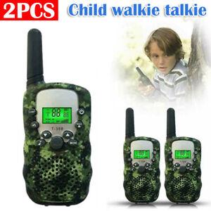 2PCS Children Walkie Talkies Kids Long Range Walky Talky UHF 2Miles 22Channel