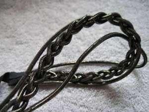 1 Goody 3 Braided Side Strands Hair Head Band Shiny Headwrap Braid Tinsel Mylar