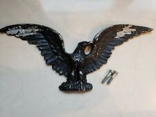 "LARGE American Eagle 17 3/8"" Cast Aluminum Metal Patriotic Wall Hanging"