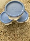 Tupperware+White+Butterfly+Bowls+with+Blue+Lids+%28Set+of+3+%29+26+oz+.+each+2513A