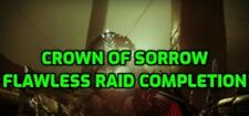 Destiny 2 Crown of sorrow flawless raid completion on PS4/Pc/Xbox1.