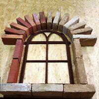 B902A Antik Stallfenster Gusseisen Fenster Eisenfenster Gartenmauer Trockenmauer