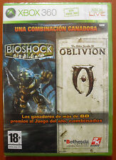 Pack Bioshock 1 + The Elder Scrolls IV: Oblivion, Xbox 360 / One, Pal-España NEW