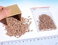 300+ Real Miniature Bricks brown O HO scale model railway diorama dollhouse wall