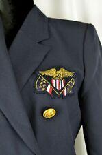 Mondi Blazer Sz 34 Vintage Wool Blend Double Breast Patriotic Gold Accents 4 US