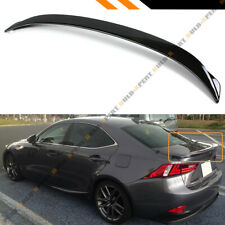 FOR 14-19 LEXUS IS200t IS250 IS350 F SPORT STYLE GLOSS BLACK TRUNK SPOILER WING