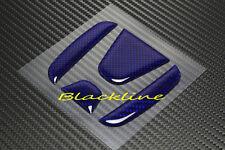 For 2013+ Honda Accord Sedan Blue Carbon Fiber Trunk Emblem Decal Filler Insert