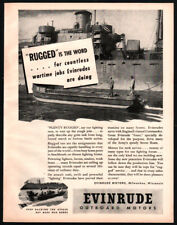 1944 WWII EVINRUDE Outboard Motor AD U.S. Army Storm Boat