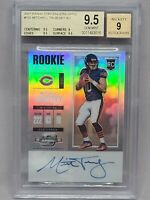 2017 Contenders Optic Mitchell Trubisky Rookie Ticket Auto BGS 9.5/9 #101 RC