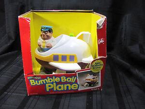 VINTAGE ERTL BUMBLE BALL PLANE 1995 MOTORIZED AIRPLANE VIBRATING KID PET AUTISM