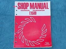 Honda Portable Generator E1500 K3 and K4 Repair Shop Service Manual 1975-77