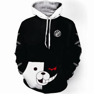 Anime Danganronpa monokuma Cosplay Hoodie Sweatshirt Casual Pullover Coat