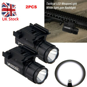 LED Flashlight 5000LM Hunting Torch Pistol Gun Light 20mm Picatinny Rail Mount