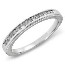 Princess Cut Channel Set Genuine Diamond Wedding Band (1/4 cttw, Size 7 & 6.75)