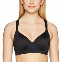 Maidenform Women's Sport Convertible Wirefree Bra, Black/Bozzeto Blue, Size 38DD