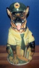 German Shepherd 3D Police Dog Stein! German Version! Large 1L! Porcelain~A Stahl
