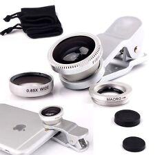 Clip On 3 in 1 Mobile Phone Camera Lens Kit 180 Degree For Xiaomi Mi 5c / Mi 5x