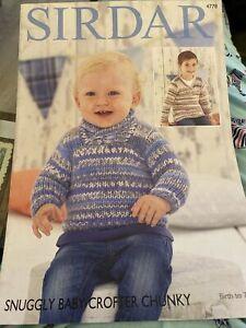 Sirdar 4778 Knitting Pattern Snuggly Crofter Chunky Sweaters Boys Birth - 7yrs