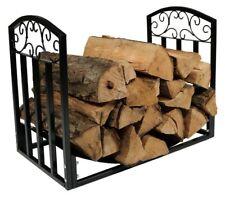 Fireplace Log Rack Steel Log Holder Indoor Outdoor Use Fire Wood Holder 24'' W