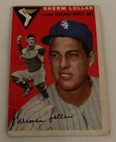 1954 Topps # 39 Sherman Sherm Lollar Baseball Card Chicago White Sox