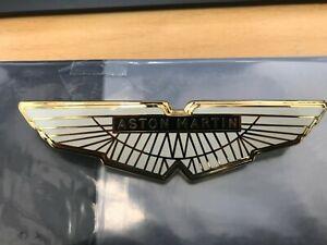 Aston Martin AMV8 & DBS Bonnet/Boot Badge in White/Gold/Black