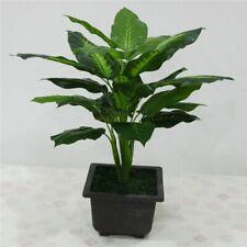 Large 50CM Evergreen Artificial Plant 25 Leaves Lifelike Bush Potted Home Plants