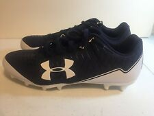 New Under Armour Mens UA Nitro Select Low Cleats Size 12 Blue/White 3019812-401