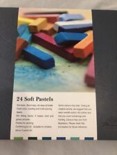 24 Soft Chalk Pastels Set for Art Drawing, Scrapbooking & More -Assorted Colors
