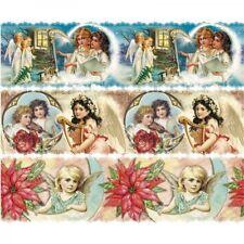 3 x Zauberfolie / Schrumpffolie 12 cm Vintage-Engelchen - NEU