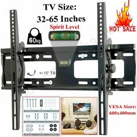 "TV BRACKET MOUNT WALL TILT LCD LED FOR INCH 32""-65"" PLASMA VESA HEAVY DUTY STAND"