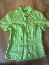 NWT Icebreaker Women Destiny M 4 6 Plaid Short Sleeve Top Shirt Merino Wool