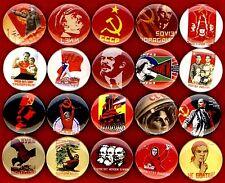 Communist propaganda x 20 NEW button pin badge soviet ussr stalin lenin poster