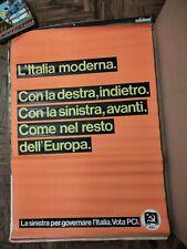 POSTER 100 X 70 Manifesto Originale Partito Comunista Italiano PCI F.LLI SPADA