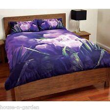 PURPLE TULIPS DOUBLE BED QUILT DOONER DUVET COVER SET  BEDROOM HOME DECOR