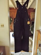 New EUNINA Black Jeans, Size 1XL, 100% Cotton Denim Bib Overalls, 40 X 32 w/Tags