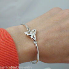 Celtic Trinity Knot Bangle Bracelet - 925 Sterling Silver - Celtic Triquetra NEW