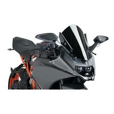 Double Bubble Windscreen Windshield Screen For 2014-2017 KTM 390 RC390 Black HY