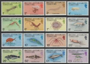 British Antarctic Territory 1984 Marine Life Definitives set of 16 Mint Unhinged