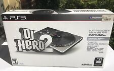 Sony PS3 PlayStation 3 DJ Hero 2 Turntable Controller No Dongle No Game