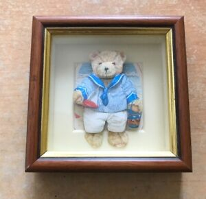 3D framed Teddy bear glazed paper picture handcrafted by MINITABU COLLECTION