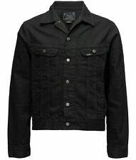 Polo Ralph Lauren Black Trucker Jacket Denim Men Size Small