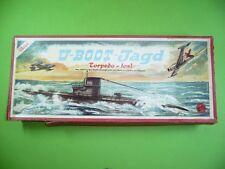 504KF1 U-BOOT-Jagd Torpedo - los! Altes 50er Jahre Spiel von SALA Rotsiegel