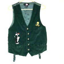 VTG Men's Corduroy Vest WARNER BROS Sm Tweety Bird Sylvester LOONEY TUNES